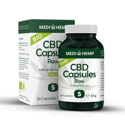 Medihemp CBD Capsules Raw 5% – Bio