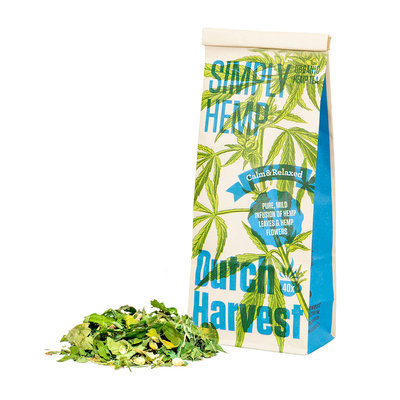 "Dutch Harvest Hennep Thee ""Simply Hemp"" - Bio – 40gr"