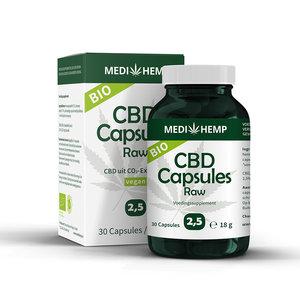 Medihemp CBD Capsules Raw 2,5% – Bio